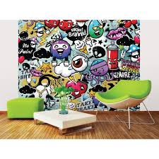Brewster 118 In X 98 In Spray Paint Wall Mural Wals0174 The Home Depot