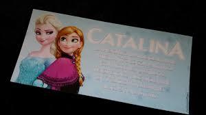 Tarjetas Invitaciones Cumpleanos Infantil Frozen Elsa Anna 22