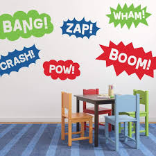 Superhero Wall Decal Boy Wall Decal Db444 Designedbeginnings