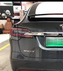 Emblem Word Space X Badge Decal Sticker For Tesla Model S Model X Model 3 New Ebay