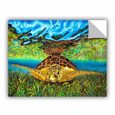 Artwall Daniel Jean Baptiste Turtle Grass Wall Decal Wayfair