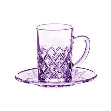 turkish tea glass crystal glass tea set