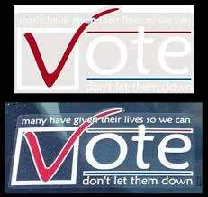 Amazon Com Vote Clear Vinyl Sticker Many Have Given Their Lives So We Can Vote Don T Let Them Down Usa Patriotic Vinyl Decal Sticker 3 5 H X 7 125 W Placard Bumper