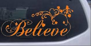 Believe Christian Car Window Wall Laptop Decal Sticker Orange 22in X 50 2in Tool For Car Johnson