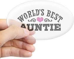 Amazon Com Cafepress World S Best Auntie Oval Bumper Sticker Euro Oval Car Decal Home Kitchen