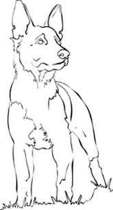 German Shepherd Dog Coloring Pages Dieren Tekenen Abstracte