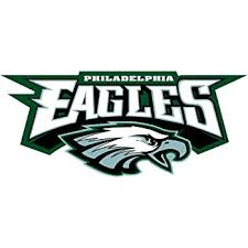 Amazon Com Philadelphia Eagles Football Team Logo Wall Decal Removable Reusable For Home Bedroom Wide 20 X11 Height Home Kitchen