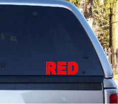 Red Remember Everyone Deployed Car Decal Support Our Troops Anthem Graphix