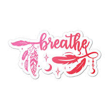 Breathe Car Sticker Decal Relax Yoga Meditate Inspirational Motivation Hippie Ebay