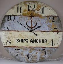 23 ships anchor wall clock nautical