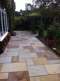 indian sandstone garden paving with