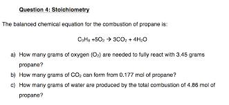 stoichiometry the balanced chemical eq