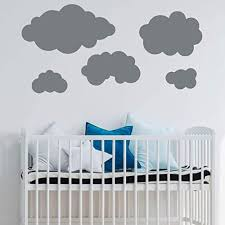Amazon Com Clouds Silhouette Wall Decal Vinyl Sticker Decorations For Home Nursery Kids Room Bedroom Or Living Room Decor Handmade