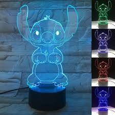 Night Lamp Change Touch Switch Kids Bedroom 3d Illusion Peacock Light For Sale Online Ebay