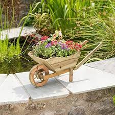 christow wooden wheelbarrow garden