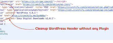clean up wordpress header section