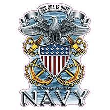 Amazon Com United States Navy 19 Inch Window Strip Navy Outside Decal Automotive