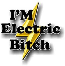 Amazon Com I M Electric Bitch 5 Decal For Volt Bolt Prius Electric Car Decal Vinyl Sticker Automotive