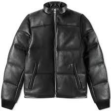mki leather bubble jacket black end