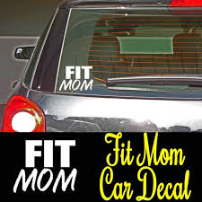 Fit Mom Vinyl Car Decal You Choose Color Decal Car Decal Laptop Decal Car Decals Vinyl Car Decals Fit Mom