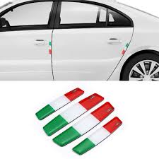 Italy Flag Scuff Plate Door Edge Bumper Strip Embelm Logo Sitkcer Decals For Smart Fortwo Forstars Brabus Forjeremy Escooter 450 Car Stickers Aliexpress