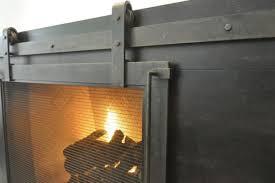 barn door hinge fireplace screen