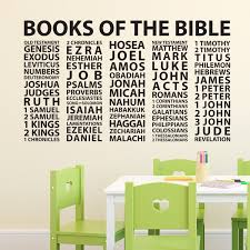 Books Of The Bible Vinyl Wall Decal Church Wall Christian Or Catholic