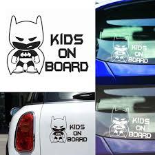 1 Pcs Funny Batman Kid On Board Auto Vinyl Sticker Car Window Bumper Sticker Decals Car Styling Wholesale Car Stickers Aliexpress