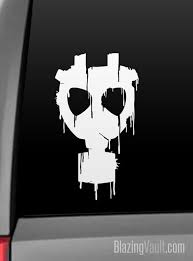 Dripping Vintage Gas Mask Decal For Laptop Window Car Bumper Etsy