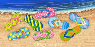 Beach Flip Flops Wallpaper Wall Mural By Magic Murals