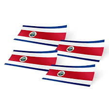 Decals Stickers Collectibles Costa Rican Pride Costa Rica National Flag Car Decal Sticker Collectibles Transportation