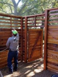 Staining 8 Foot Tall Custom Horizontal Fence With Slats On Top Wood Fence Design Horizontal Fence Fence Styles