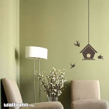 Bird House With Swallows Wall Decal Sticker Nature Wall Etsy Wall Decals Decal Wall Art Old Wall