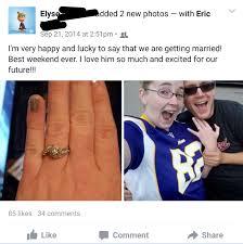 show me your engagement announcements on social media