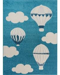 2020 Sales On Blue White Soft Cute Area Rug Carpet Mat With Baloons Clouds Cartoon For Kids Little Girl Boy Room Nursery 4x5 5x7 7x9 8x10 5 X 8 5 3x7 3