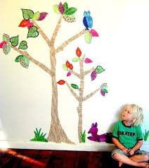 Amazing Handpainted Fabric Wall Decals Sticky Tiki My Desired Home