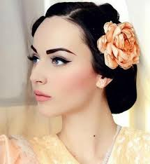 makeup for black hair pale skin blue