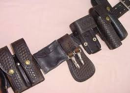 leather police duty belt aker chambers