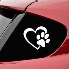 Love Dog Paw Pattern Car Styling Window Decal Sticker Totomo Us