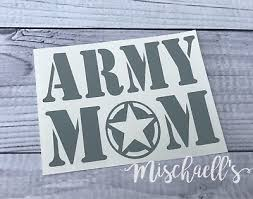 Army Mom Sticker Military Mom Love My Soldier Car Decal Vinyl Sticker M1043 3 99 Picclick