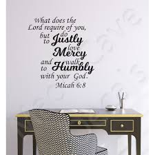 Christian Wall Decal Humbly With Your God Micah 6 8
