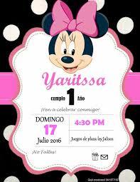 Gayli Creaciones Minnie 1 Ano Invitaciones Minnie Invitacion De