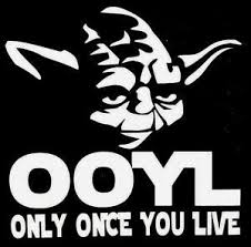 Only Once You Live Yoda Star Wars Car Window Vinyl Decal Sticker White 5x5 Ebay