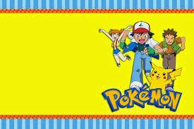 Invitaciones De Pokemon Para Imprimir