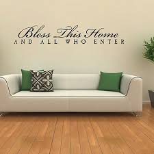 bless this home wall sticker religious quotes wall decal family