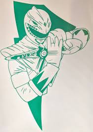 Mighty Morphin Power Rangers Green Ranger W Dagger Vinyl Decal For C Ftw Custom Vinyl