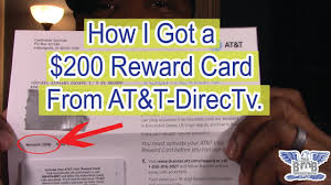 200 reward card from at t directv