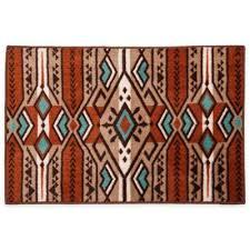 aztec stripe bath rug
