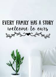 Every Family Has A Story Wall Decal Sticker Bedroom Room Art Vinyl Hom Boop Decals