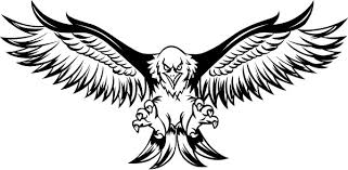 Flying Eagle Decal Sticker 14